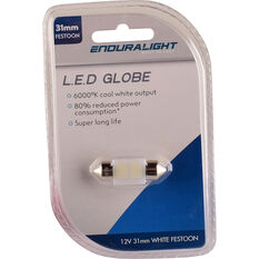Enduralight Interior Globe 31MM Festoon LED White, , scanz_hi-res