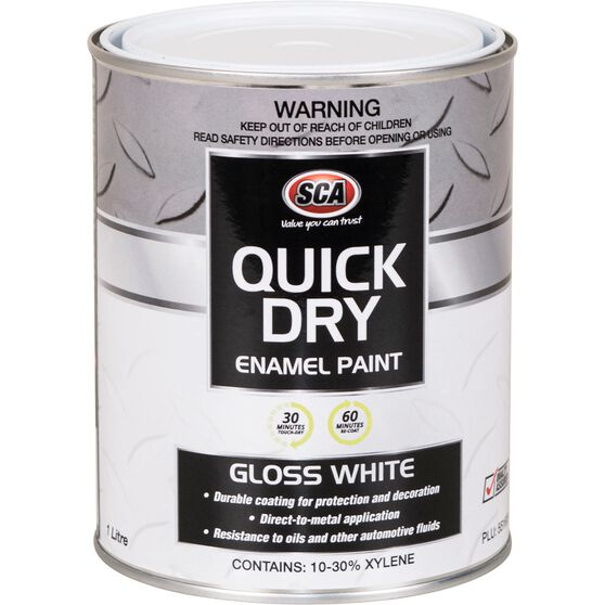 Quick Dry Enamel White 1 Litre, , scanz_hi-res
