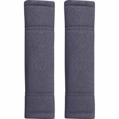 SCA Suede Velour Seat Belt Buddies - Charcoal, Pair, , scanz_hi-res