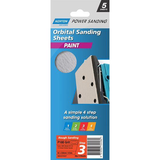 Norton 1 / 3 Sander Sheet - 180 Grit, , scanz_hi-res