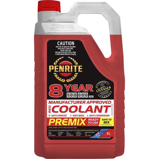 Penrite Red Long Life Anti Freeze / Anti Boil Premix Coolant - 5L, , scanz_hi-res