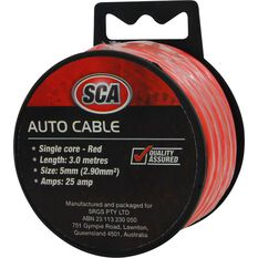 Auto Cable - 25 Amp, 5mm, 3m, Red, , scanz_hi-res