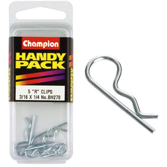 Champion R Clips - 3 / 16-1 / 4inch, BH270, Handy Pack, , scanz_hi-res