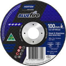 Norton Metal Cut off Disc - 100mm x 1.0mm x 16mm, , scanz_hi-res
