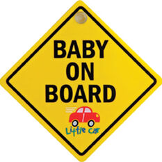 Little Car Plastic Baby on Board Sign - Yellow, , scanz_hi-res