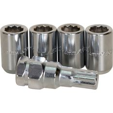 Calibre Wheel Nuts, Tapered Slim, Chrome - SLIMN14150, 14mm x 1.50mm, , scanz_hi-res