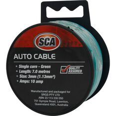 Auto Cable - 10 Amp, 3mm, 7m, Green, , scanz_hi-res