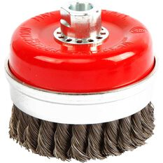 ToolPRO Wire Cup Brush - 100mm, Twist Knot, , scanz_hi-res