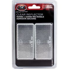 Reflector - Rectangle, 94 x 44mm, Clear, 2 Pack, , scanz_hi-res
