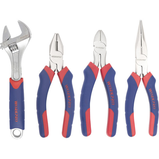WORKPRO Plier & Wrench Set - 4 Piece, , scanz_hi-res