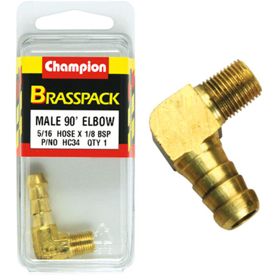 Champion Male Elbow 90° - 5/16 x 1/8 Inch, Brass, , scanz_hi-res