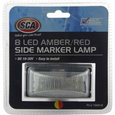 SCA Side Marker Lamp - LED, Amber / Red, 10-30V, , scanz_hi-res