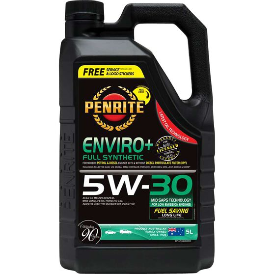 Penrite Enviro+ Engine Oil - 5W-30 5 Litre, , scanz_hi-res