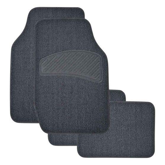 SCA Loop Pile Floor Mats - Carpet, Charcoal, Set of 4, , scanz_hi-res