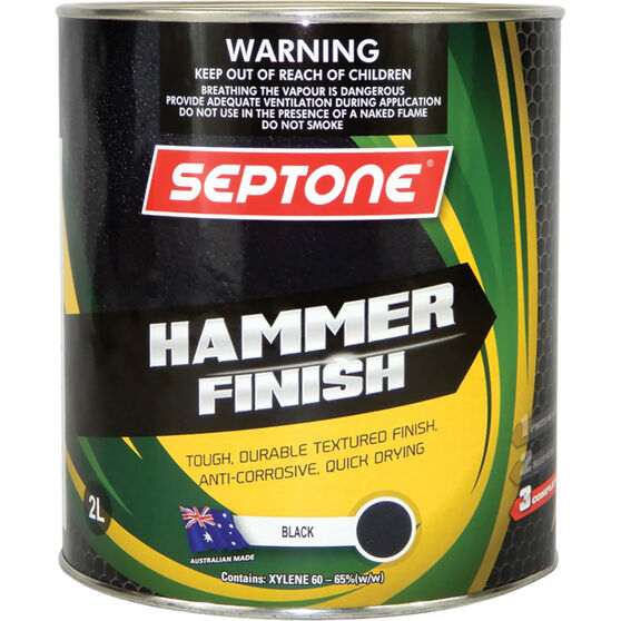 Septone Paint Hammer Finish - Black, 2 Litre, , scanz_hi-res