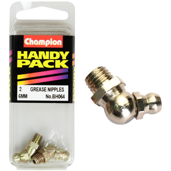 Champion Grease Nipples - 6mm, 45°, BH064, , scanz_hi-res