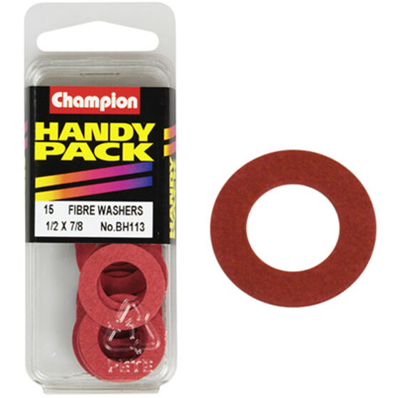 Champion Fibre Washers - 1 / 2inch X 7 / 8inch, BH113, Handy Pack, , scanz_hi-res