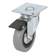 SCA Castor Wheel - 75 x 21mm, Plastic Brake, Swivel, , scanz_hi-res