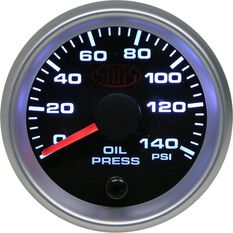 SAAS Oil Pressure Gauge - Black, 52mm, , scanz_hi-res