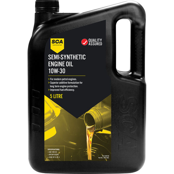SCA Semi Synthetic Engine Oil 10W-30 5 Litre, , scanz_hi-res