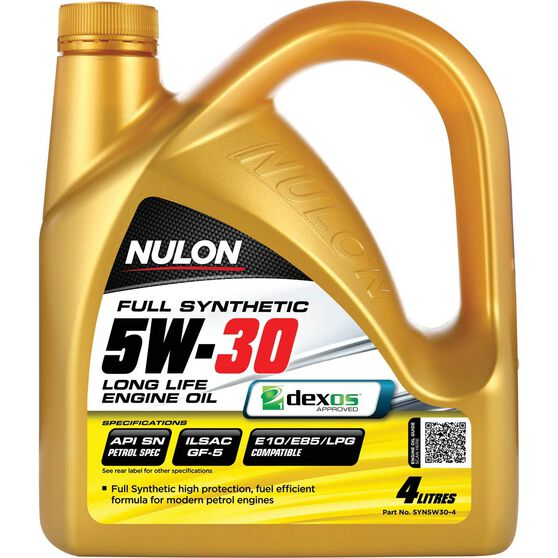 Nulon Full Synthetic Long Life Engine Oil - 5W-30 4 Litre, , scanz_hi-res