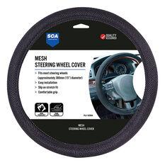 SCA Steering Wheel Cover - Mesh, Black, 380mm diameter, , scanz_hi-res