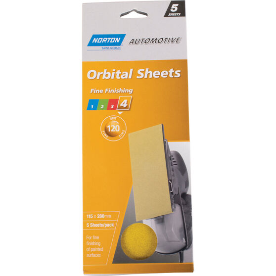 Norton Orbital Sheet - 120 Grit, 5 Pack, , scanz_hi-res