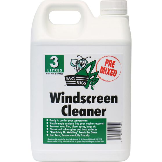 Bar's Bugs Pre-mix Windscreen Cleaner - 3 Litre, , scanz_hi-res