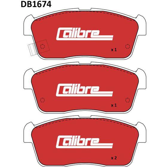 Calibre Disc Brake Pads - DB1674CAL, , scanz_hi-res