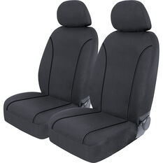 SCA Canvas Seat Covers - Charcoal/Grey Adjustable Headrests Size 30 Front Pair Airbag Compatible, , scanz_hi-res