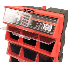 12 Drawer Organiser with Handle - Red, , scanz_hi-res