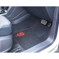 SCA Dragon Floor Mats - Carpet, Black / Red, Set of 4, , scanz_hi-res