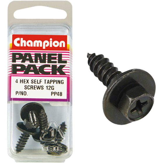 Champion Hex Self Tapping Screw - 12G, PP48, Panel Pack, , scanz_hi-res