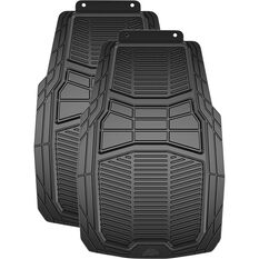 Armor All Car Heavy Duty Floor Mats Rubber Black Front Pair, , scanz_hi-res