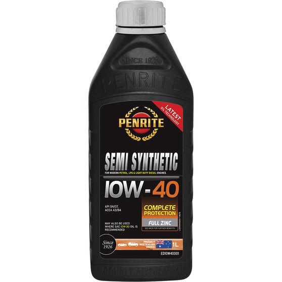 Penrite Semi Synthetic Engine Oil - 10W-40 1 Litre, , scanz_hi-res
