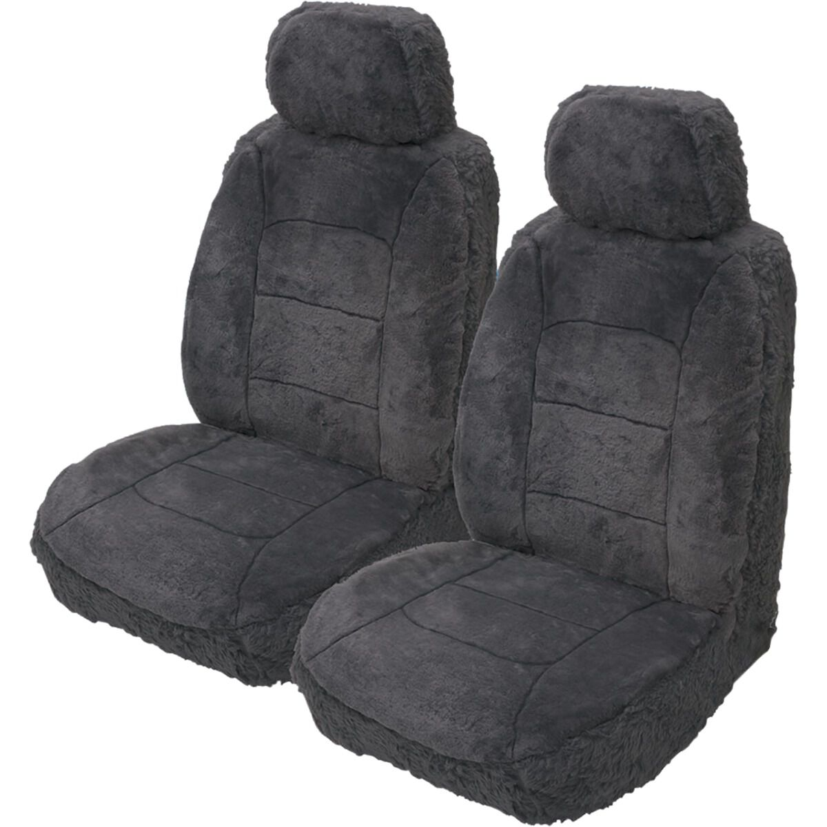 FRONT PAIR of Luxury QUILTED Protectors Car Seat Covers Fiat Ducato