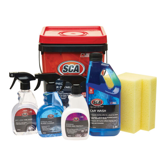 SCA Car Detailing Kit - 7 Pieces, , scanz_hi-res