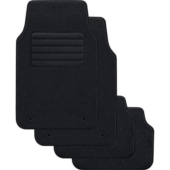 SCA Optimum Car Floor Mats - Carpet, Black, Set of 4, , scanz_hi-res