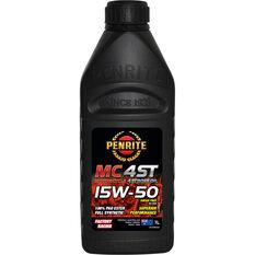 Penrite MC-4ST PAO & Ester Motorcycle Oil 15W-50 1 Litre, , scanz_hi-res