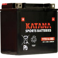 Powersports Battery -  YTX14BS, , scanz_hi-res