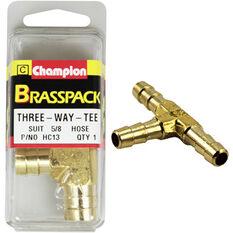 Champion T Pieces - 5 / 8inch, Brass, , scanz_hi-res