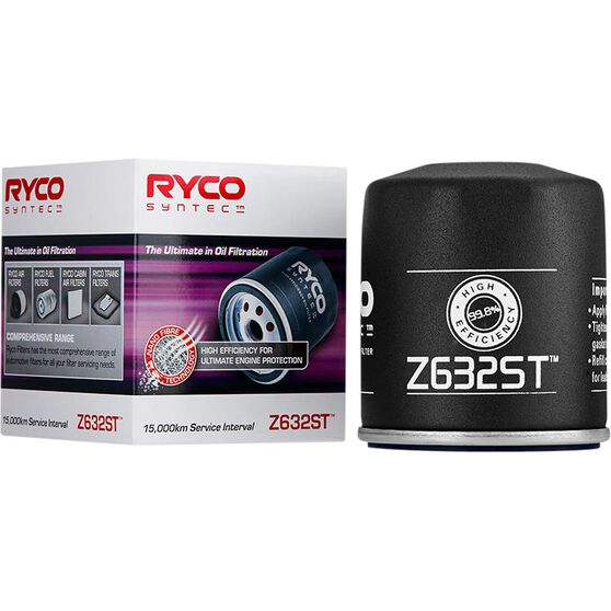 Ryco Syntec Oil Filter Z632ST (Interchangeable with Z632), , scanz_hi-res
