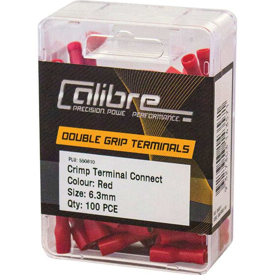 Crimp Terminal Connect 6.3mm Red 100Pk, , scanz_hi-res
