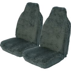 SCA Comfort Fur Seat Covers -  Slate, Built-in Headrests, Size 60, Front Pair, Airbag Compatible, , scanz_hi-res