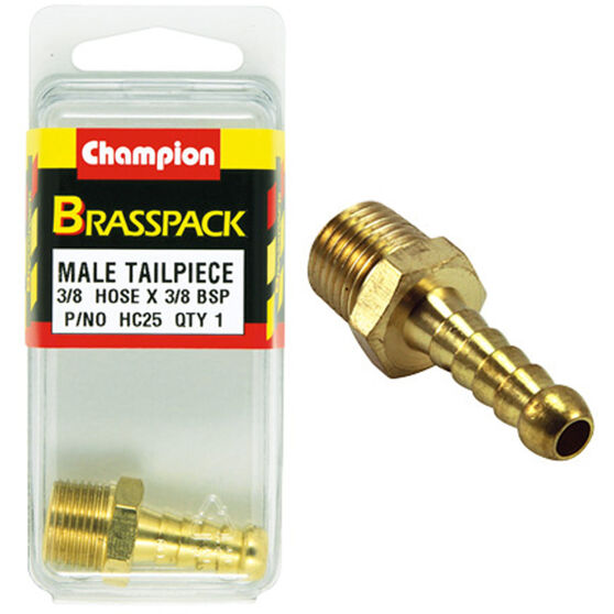 Champion Male Hose Barb - 3 / 8inch X 3 / 8inch, Brass, , scanz_hi-res