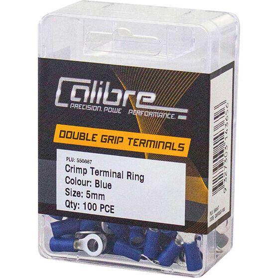 Crimp Terminal Ring Blue 5mm 100Pk, , scanz_hi-res