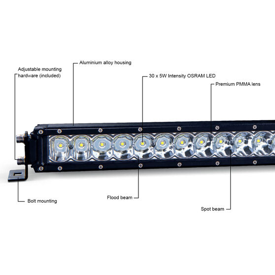 """Ridge Ryder 31"""" LED Driving Light Bar 127W with harness, , scanz_hi-res"""