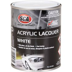 SCA Acrylic Paint - White, 1 Litre, , scanz_hi-res