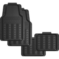 SCA Tread Floor Mats - PVC, Black, Set of 4, , scanz_hi-res