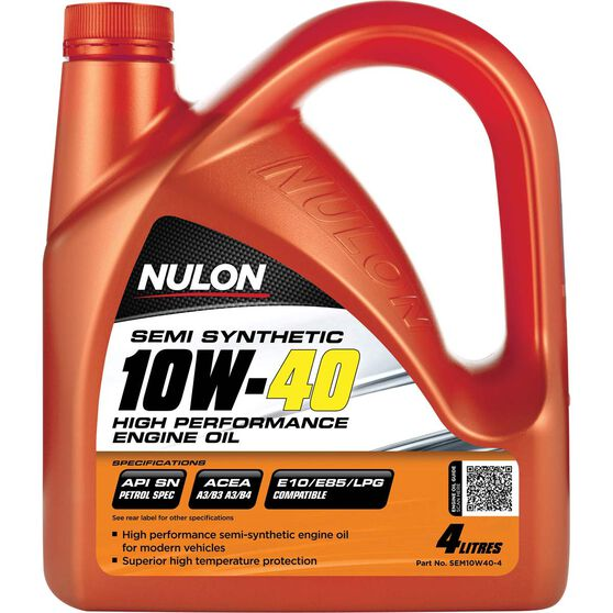 Nulon Semi Synthetic High Performance Engine Oil - 10W-40 4 Litre, , scanz_hi-res